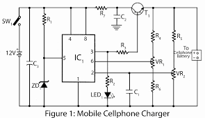 mobile cellphone charger electronics project parts list