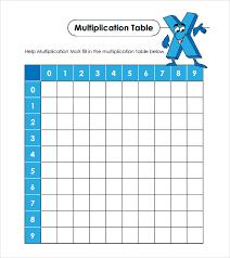 Blank Table Template Simple 44 Multiplication Table Samples Sample Templates