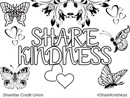 Check out our collection of printable color by number worksheets for kids. Share Kindness Coloring Sheets 1 Sharefax Credit Union