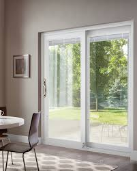 this patio door includes inovo blinds opened