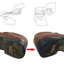 anti slip glue on rubber heel tips soles diy shoes repair kit 3mm