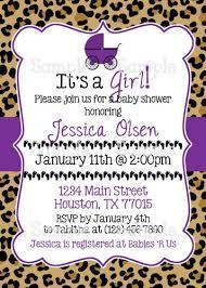 Cheetah Print Baby Shower Invitations Ba Shower Invitation Templates