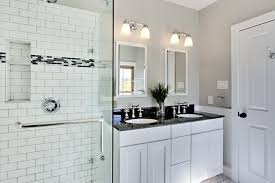 Modern Traditional White Bathroom Ideas Design With Subway Tiles N Intended Simple