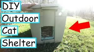 diy outdoor cat shelter