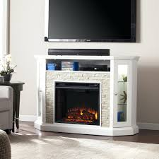 full image for white corner electric fireplace tv stand entertainment center cau redden convertible a faux