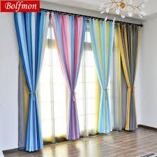 Bunte Regenbogen Schöne Halb Blackout Fenster Behandlungen Für