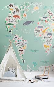 Safari Kids Map Wallpaper Mural Muralswallpaper