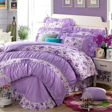 queen bed duvet covers cotton girls princess purple bedding sets bedroom bed duvet cover twin full queen king size pillowcase in bedding sets from home