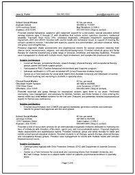 Sample Of Social Worker Resume Social Work Resume Sample Federal