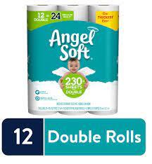 Angel Soft Toilet Paper 12 Double Rolls Walmart Com Walmart Com