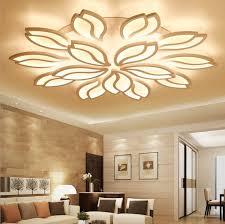 New Lotus Flower Modern LED Dandelion Ceiling Lamp Dinner Room Lighting  Bedroom Livingroom Flush Mount