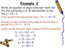 19 example 2 write an equation in slope intercept form