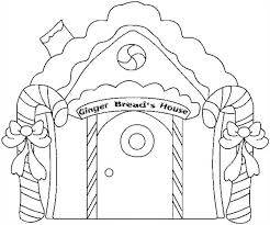 Small Picture Christmas Gingerbread House and Two Sweet Candy Cane Coloring Page