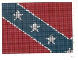 Free: Rebel Confederate Flag Crochet or Stamp Quilt Pattern ... & FREE: Rebel Confederate Flag Crochet or Stamp Quilt Pattern Adamdwight.com