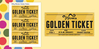 Play Ticket Template Willy Wonka Golden Ticket Template Lorgprintmakers Com
