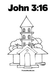 John 3 16 Kjv Valentine Coloring Page