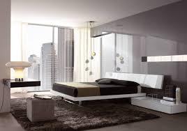 Minimalist Bedroom Decor Urban Minimalist Bedroom Idea With City View Through Glass Windows
