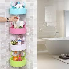 2018 wall mounted style bathroom corner shelf plastic shower room storage holder kitchen wall rack from tree988 8 69 dhgate com