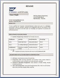Sap Fico Resume Sample Techtrontechnologies Com