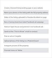 example real estate marketing plan
