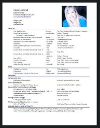 Actor Resume Template Word Best Resume Samples Images On Resume ...