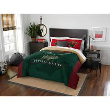 nhl wild draft 3 piece multi color polyester full queen comforter set