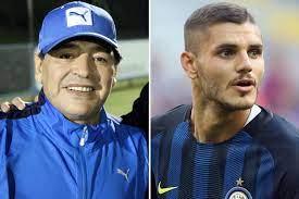 Maradona bate boca com astro da Inter de Milão