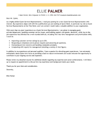 Best Guest Service Representative Cover Letter Examples Livecareer