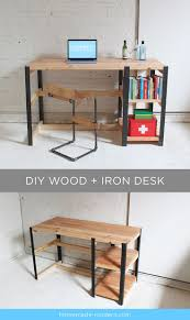 Full instructions for the DIY wood + iron desk are exclusively in the  HomeMade Modern Book