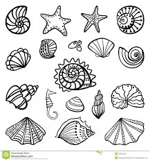 Coloring Page Sea Shells Free Printable Seashell Pages And - glum.me