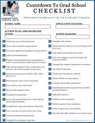 School Checklist Countdown To Grad School Checklist Free Download Preparing For