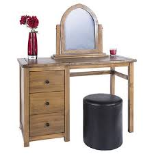 milano round faux leather dressing table stool in black brown or cream 2