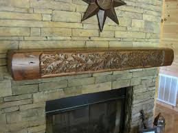 rustic fireplace mantels shelves