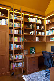 bookcases for home office. Custom Rolling Ladder Bookcase Home Office Contemporary With Library Bookcases For