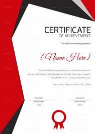 Achievement Awards Certificates Templates Sports Achievement Award Certificate Template Certificate
