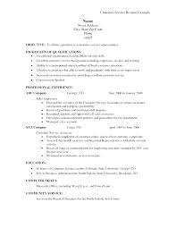 Resume Examples Of Objectives Customer Service Resume Objective