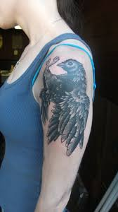 i m not actually qualified to do anything dom mazzetti this is the second dead bird tattoo i ve done on leah i am sure it will turn into a dead bird sleeve