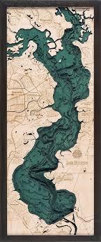 Bathymetric Map Lake Houston Texas Maps Landscapes In