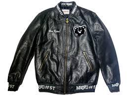 moor respek work hard varsity jacket