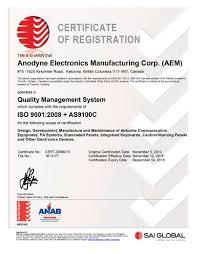aem certifications aem corp registered iso 9001 2008 as9100c