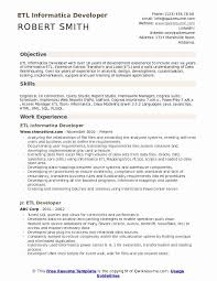 Cognos Report Developer Resume Sample Best Of Etl Informatica