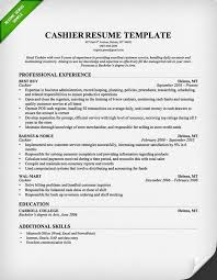 experience as a cashier professional cashier resume template image download