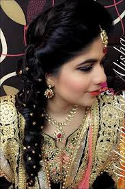 south indian bridal hairstyles for receptions curly messy one sided braid