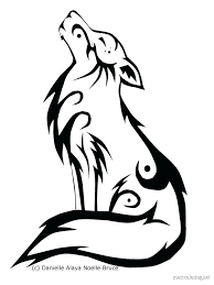 tribal wolf and moon drawing.  And Related Coloring Pages Tribal Wolf Copy Howling Moon   To Tribal And Drawing