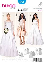 Prom Dress Sewing Patterns Magnificent Misses Wedding And Evening Dress Burda Sewing Pattern No 48 Size