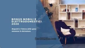 Bonus mobili e elettrodomestici 2020 - Fiscomania