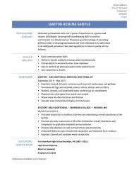 Janitor Resume Superb Janitorial Professional Samplee Job Skills