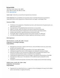 Tax Accountant Resume Objective Examples Resume Templates Example Of Junior Accountant Sample Senior 15