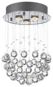 modern chandelier rain drop crystal ball ceiling lamp