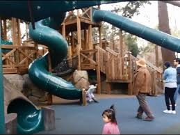 Swirly Slides Huge Playground And Swirly Slides At Theme Park And Zoo